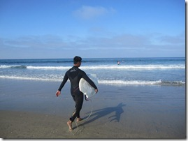 Surfer in Newport Beach